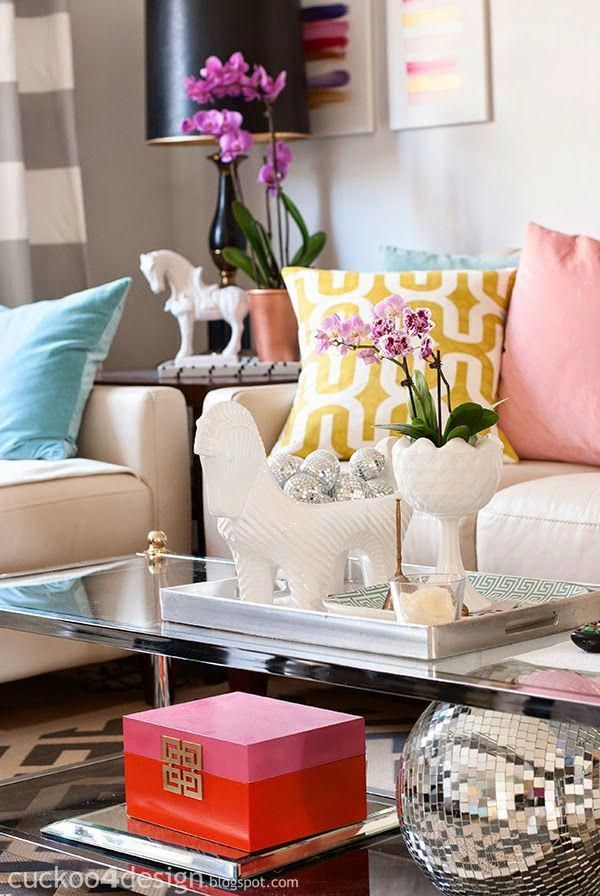 Mixing Colors Into A Neutral Home With Lots Of Shades Pink Turquoise And Leopard