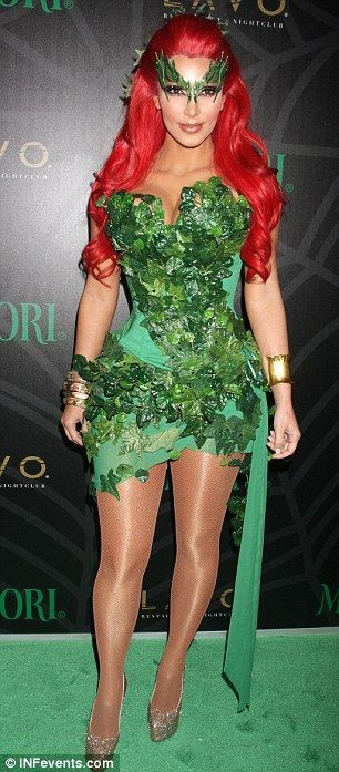 Flooring the competition: Kim was a smash hit in her Halloween attire