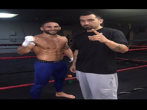 Chad Mendes: Chad mendes training at Team Alpha Male