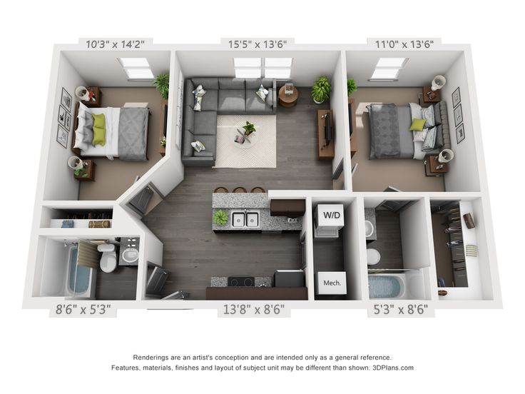 Style B1 Marks The Spot Studio Apartment Floor Plans Small Apartment Plans Sims House Design