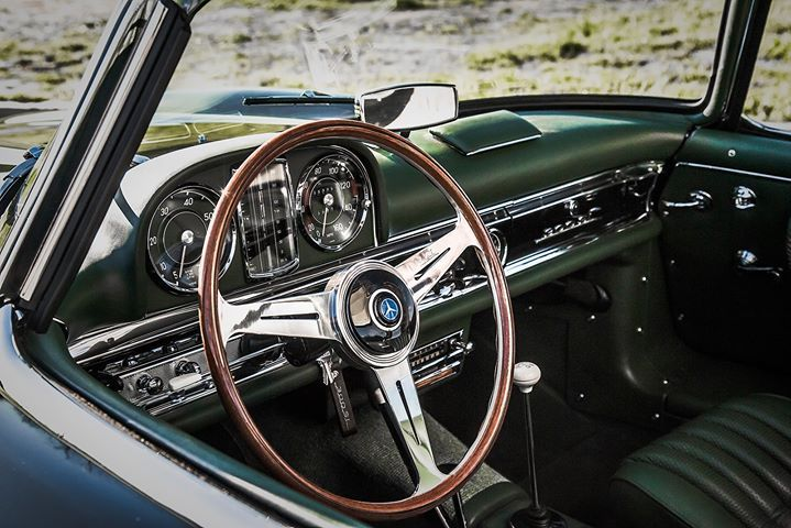 Get in and go. - 1962 300 SL restored at the Mercedes-Benz Classic Center.