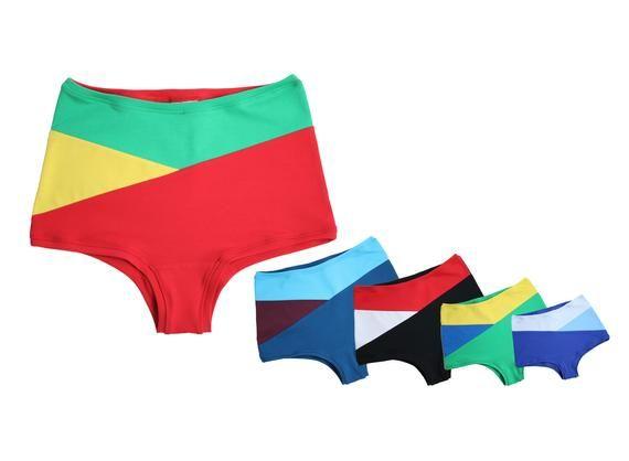 buy popular 82111 4cae5 Unterhose hohe Taille Damen, bunte Unterwäsche, Highwaist ...
