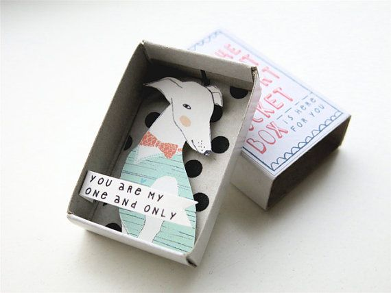 The Instant Comfort Pocket Box - a dog to love on Etsy, $11.23. Hidden matchbook, altered art, assemblage