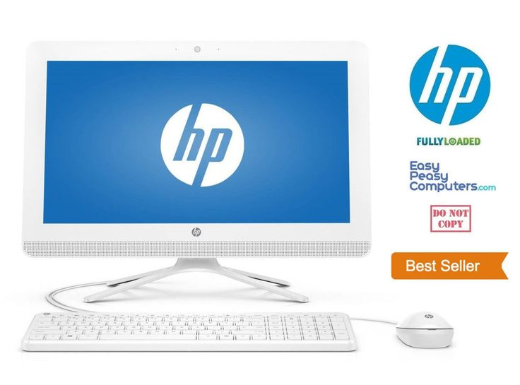 Computers for Sale - NEW HP Fast All in One Desktop Computer PC Windows 10 4GB 500GB (FULLY LOADED) #HP