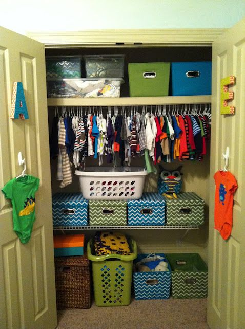 organize your kids' closets. thanks beth!