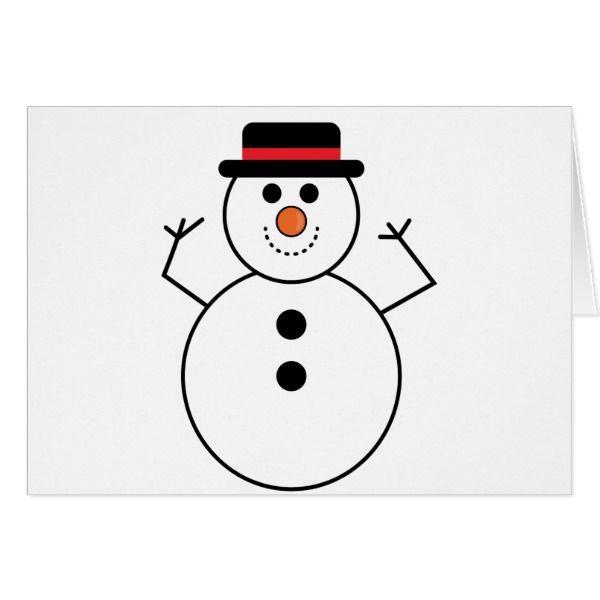 Snowman Cartoon Card #cards #christmascard #holiday