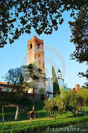 Medieval cityscape in Castelfranco Veneto, Italy, Europe.