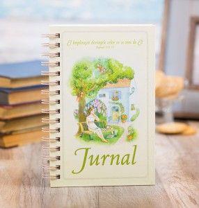 White & green journal.