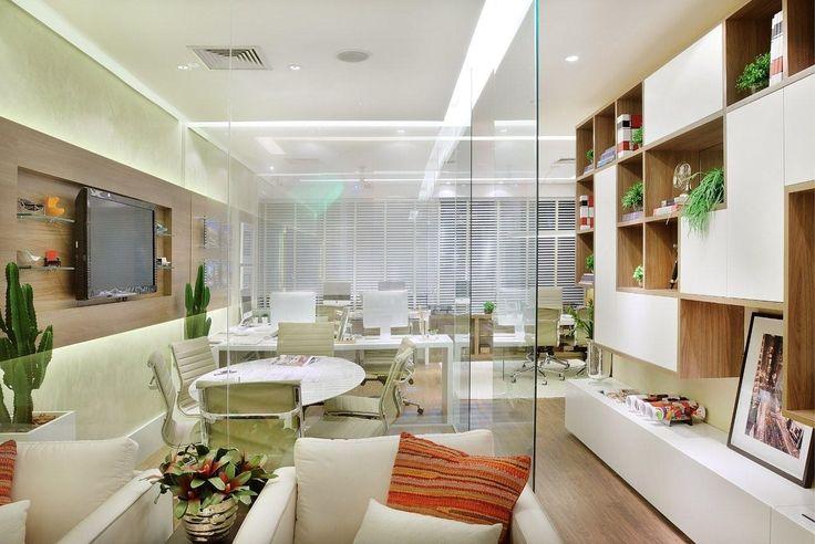 Projeto de um escritório no Ed. Madeira em Alphaville - Construtora Cyrela #quitetefaria projeto comercial
