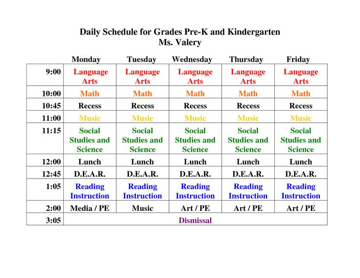 The 25+ Best Kindergarten Daily Schedules Ideas On Pinterest