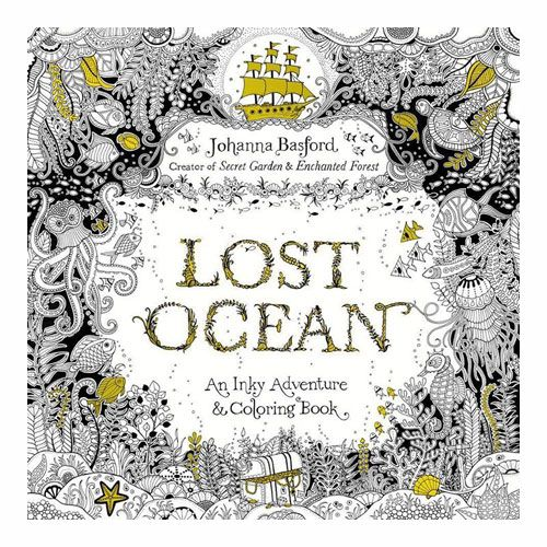Lost Ocean An Inky Adventure Colouring Book By Johanna Basford