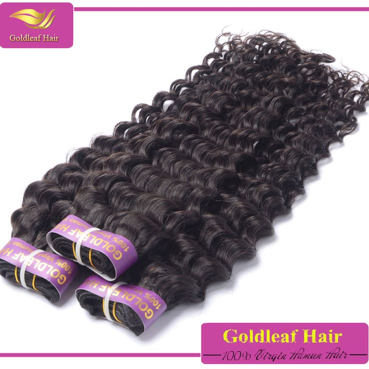 100% human hair extensions virgin unprocessed deep wave human hair for braiding