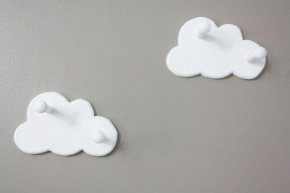 Wolke-Wand-Haken-Set von zwei von ShopLittles auf Etsy