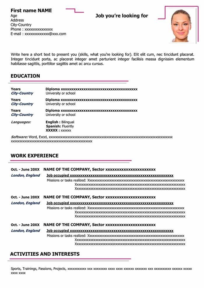 Free Downloadable Cv Layout In Word Format Cv Templates Downloadable Format Free Layou Cv Words Cv Template Best Cv Template