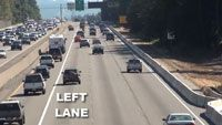 Utilizing freeway lanes properly can lead to safe and less stressful highway driving. Drivers ed teaches proper lan etiquette and this video reinforces the driving concept.