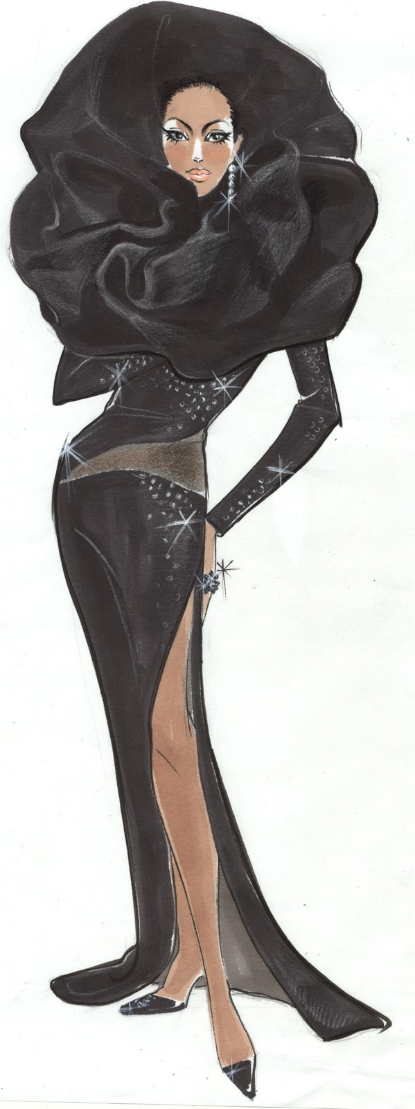 Sparkle 2012 Costume Designer: Ruth Carter Costume Illustrator : Chloe Ji Yoon