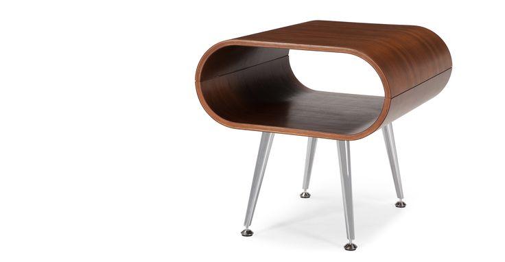 Hooper Bedside Table in walnut | made.com