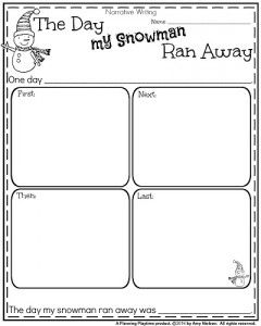 First Grade Writing Prompts for Winter - Planning Playtime