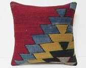 kilim pillow 18x18 bohemian cushion bohemian pillow case accent pillow cover modern throw pillow kilim floor cushion chevron pillow 22664