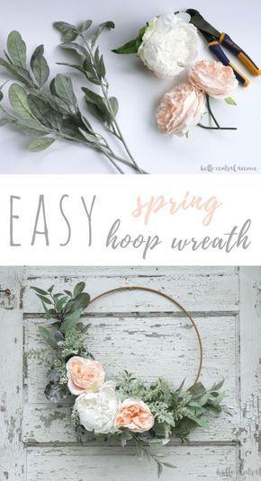 An Easy DIY Spring Hoop Wreath Kara Jones