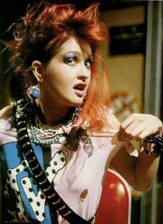Cyndi Lauper, 80s music and fashion icon. I preferred her to Madonna (and still do!)