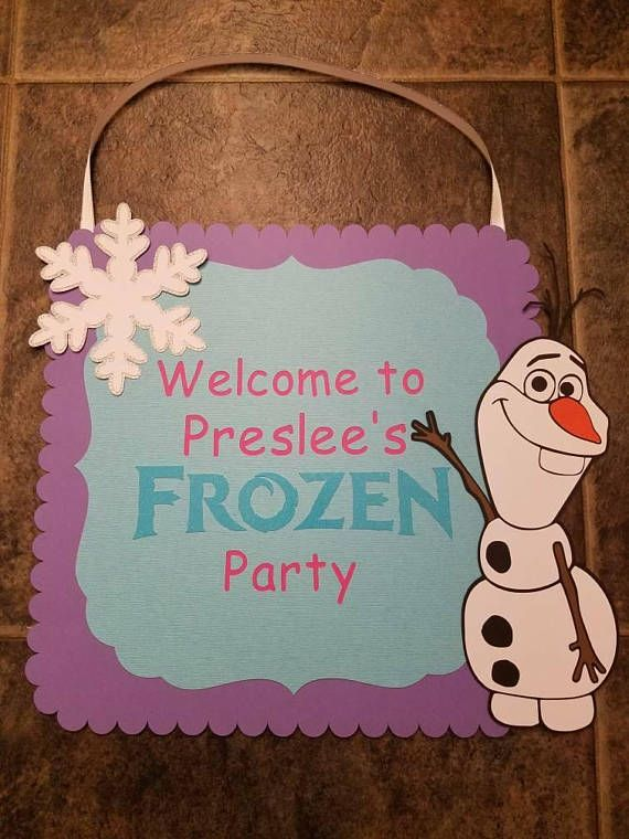 Check out this item in my Etsy shop https://www.etsy.com/listing/560424333/frozen-birthday-sign-frozen-party