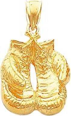 14K Gold Boxing Gloves Charm $408.99