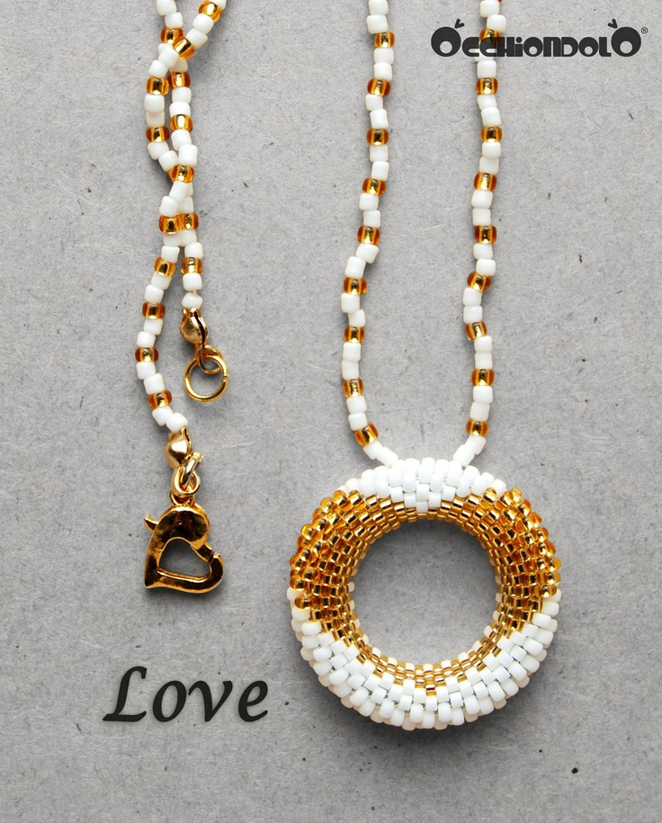 #gold version of Occhiondolo #Love, spec-holder #necklace