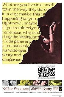 Splendor in the Grass is a 1961 romantic drama film that tells a story of sexual repression, love, and heartbreak, from which the character Deanie (Natalie Wood) suffers. Written by William Inge, who appears briefly as a Protestant clergyman and won an Oscar for his screenplay, the film was directed by Elia Kazan and also stars Warren Beatty