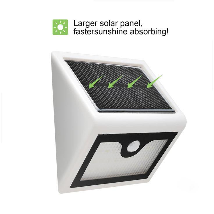 AGPtek 28LED Rainproof Solar Motion Light Outdoor Sensor Security LED Light 600 Lumens, Yellow sunshine