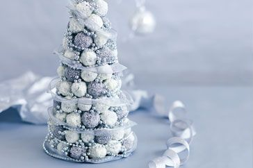 Here's how to create our Christmas truffle tree. You'll need a 25cm-tall polystyrene cone, from craft stores.