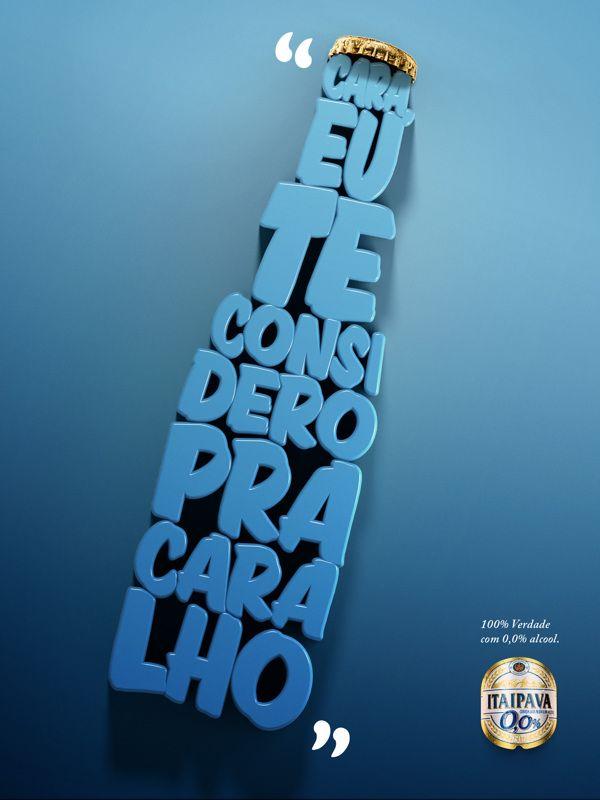 Itaipava, 0% álcool, 100% verdade. | Criatives | Blog Design, Inspirações, Tutoriais, Web Design