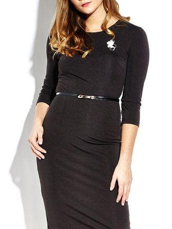 Elegant Belt Slim Pencil Dress For Women With Brooch at Banggood