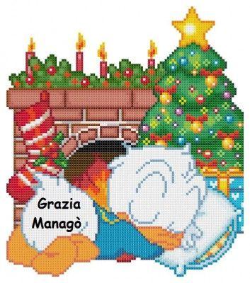 Baby Paperino con albero di Natale - Le crocette di Grazia