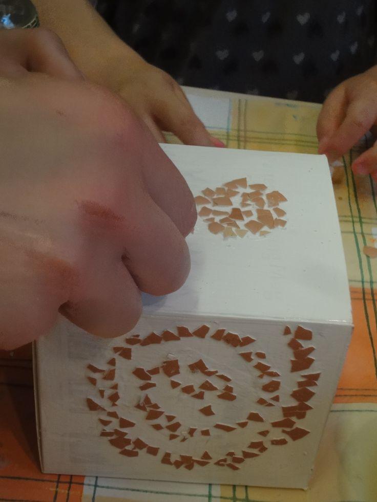 tojáshéj mozaik; eggshell mosaic