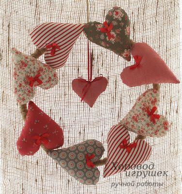 Украшение для дома на День Святого Валентина- венок из сердечек    #DIY…