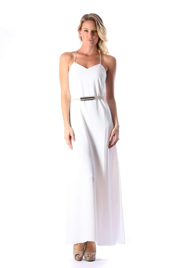 XARA MAXI DRESS WHITE WITH BELT  http://runwaydream.com.au/xara-maxi-dress-white-with-belt-ixiah-392?options=cart Retail: $249.95 Hire:  $59