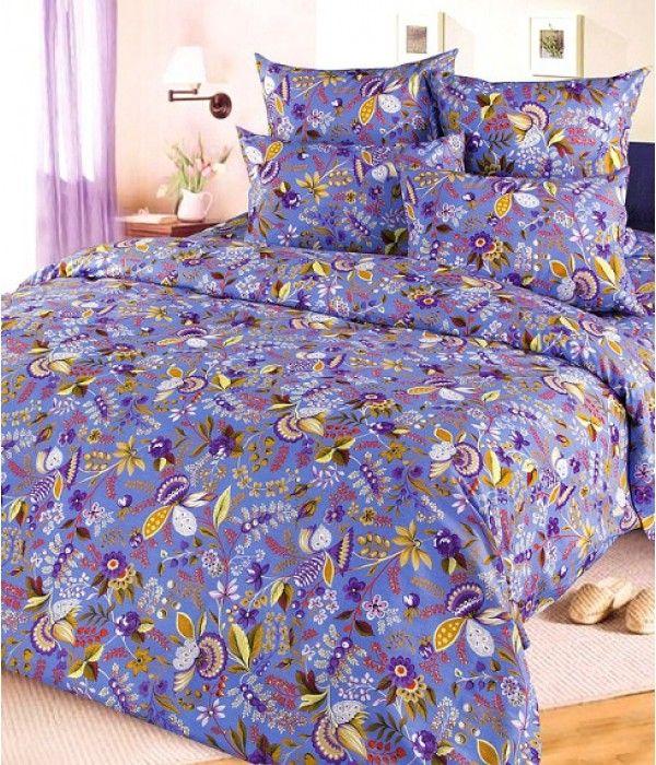 Постельное белье бязь Подарок 4 фиолетовое - 2 спальное, 2100Б