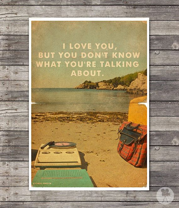 Moonrise Kingdom - Wes Anderson Poster - Vintage Style Magazine Print movie quotes Cinema Studio Watercolor Background - Pick your Size on Etsy, 17,90 €