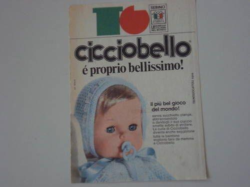advertising Pubblicità 1973 BAMBOLA SEBINO CICCIOBELLO