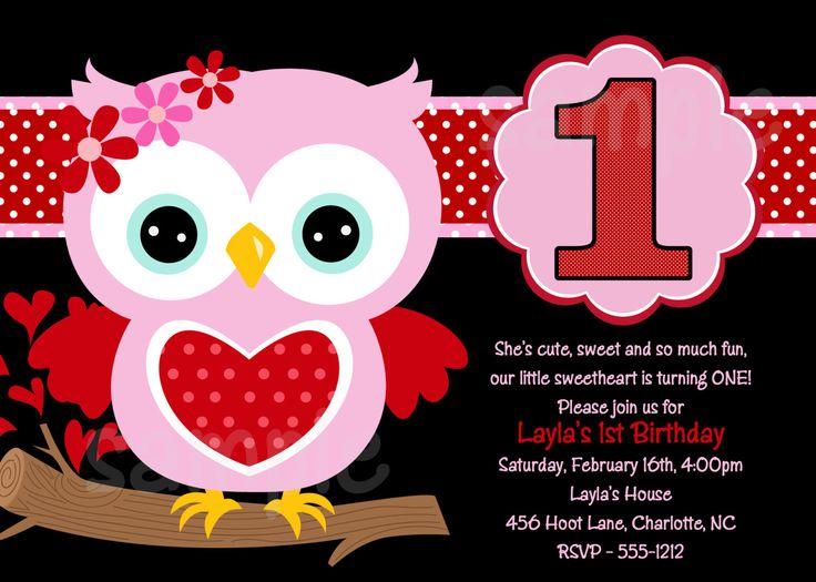 Download Owl 1st Birthday Invitations Ideas
