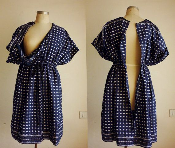 Birthing Delivery Hospital gown / caftan / by ADifferentWeave, $37.00