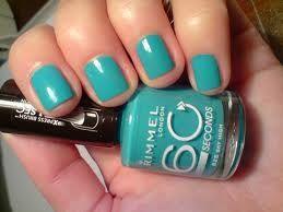Pintauñas azul clarito de Rimmel London