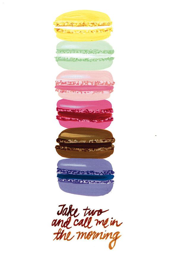 Macaron PrintInspiration, Macarons Prints, Quotes, Illustration, Art, French Macaroons, Things, Gallery Wall, Design