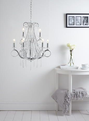 Trinity 9 Light Chandelier bedroom chandelier beaded crystal light clear  chrome BHS. 17 Best images about HOME LIGHTING   CRYSTAL CHANDELIERS on
