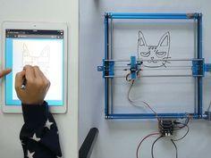XY Plotter Robot Drawing via Web
