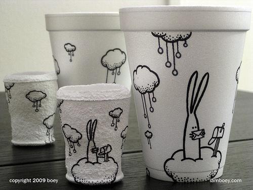 Рисунки върху чаша кафе | Art and Blog
