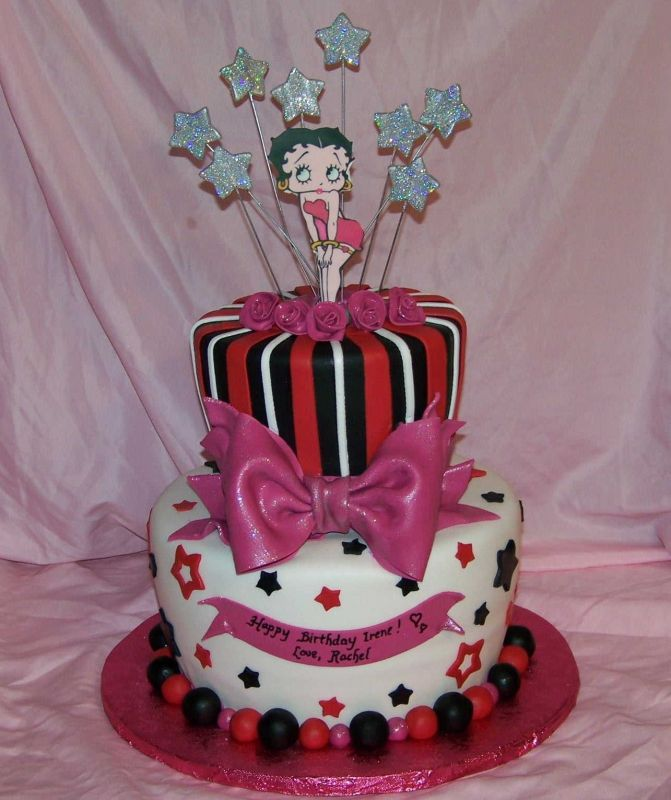 Betty Boop cake I WANT THIS FOR MY BIRTHDAY! too bad i couldn't get surprised with it.