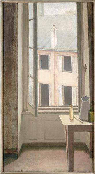 • BALTHUS (1908-2001) • Fenêtre, cour de Rohan-Troyes • 1951, huile sur toile •