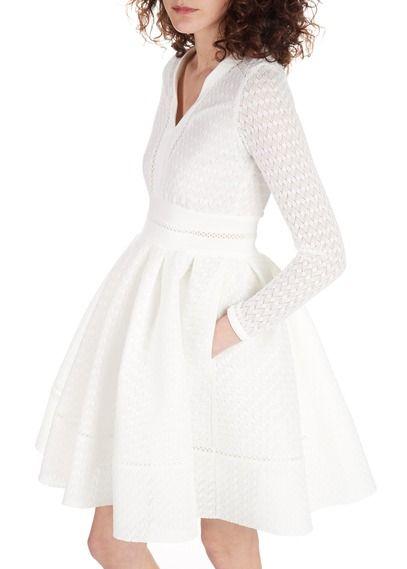 62289b121c6 Robe Rossignol Blanc by MAJE